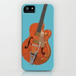 Gretsch Chet Atkins Guitar polygon art iPhone Case