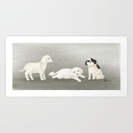 Dog Trio Art Print