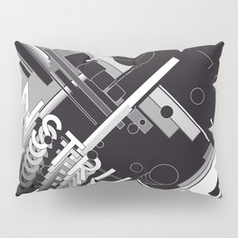 History of Art in Black and White. Constructivism Pillow Sham