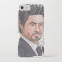 robert downey jr iPhone & iPod Cases featuring Robert Downey Jr. by Adrian Casanova
