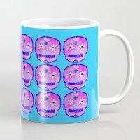 sugar skulls Mugs featuring Sugar Skulls by GLITTER PICNIC