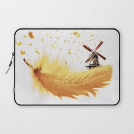 Air Feather • Yellow Feather (horizontal) Laptop Sleeve