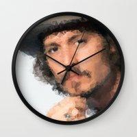 johnny depp Wall Clocks featuring Johnny Depp by lauramaahs