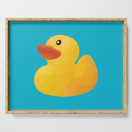 Rubber Duck polygon art Serving Tray
