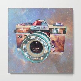 SPACE CAN0N Metal Print