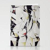 women Stationery Cards featuring women by KA Art