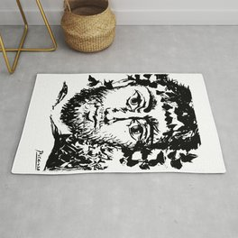 Pablo Picasso Le Faune (The Faun), 1958 Artwork Rug
