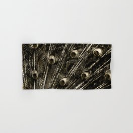 427 8 Steel Peacock Feathers Hand & Bath Towel