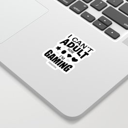 Game playing computer video Fun Addiction gift Sticker