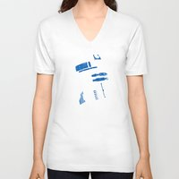 r2d2 V-neck T-shirts featuring R2D2 by getzair