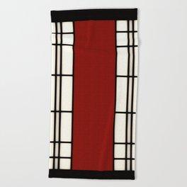 Shoji - red Beach Towel