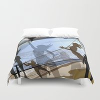 volleyball Duvet Covers featuring Anyone For Volleyball? by Robin Curtiss