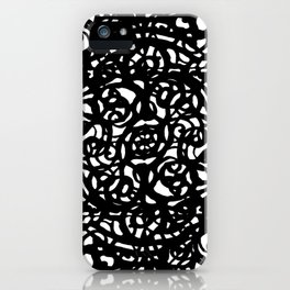Black and White Abstract Intricate Print iPhone Case