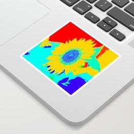 Fun Sunflower #decor #society6 Sticker