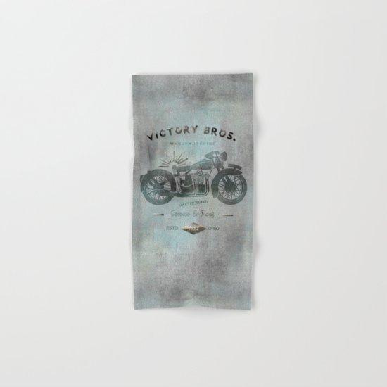 Motorbike Vintage Grunge Poster Hand & Bath Towel