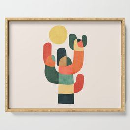 Cactus in the desert Serving Tray
