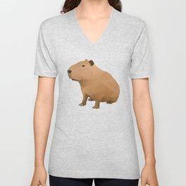 Capybara Polygon Art Unisex V-Neck