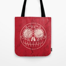Distressed Sugar Skull Tote Bag