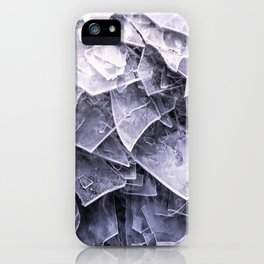 Cracked Ice Tiles In Lake Shore #decor #buyart #society6 iPhone Case