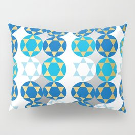 Star of David in Gold and Silver Pillow Sham
