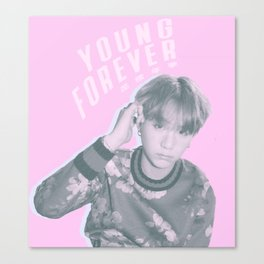 Young Forever Yoongi Canvas Print
