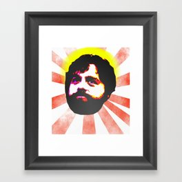Zach Galifianakis Died for our Sins Framed Art Print