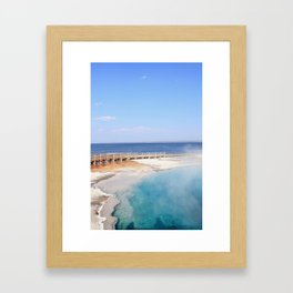 Blue Silhouette Framed Art Print