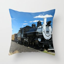 Cumbres And Toltec Steam Engine Throw Pillow