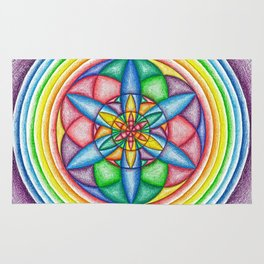 A Drop in the Rainbow Bucket - The Rainbow Tribe Collection Rug