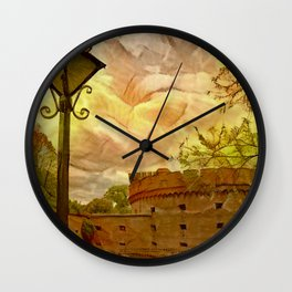 Old fort in the city of Kaliningrad Wall Clock