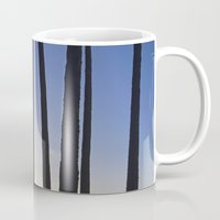 palm trees Mugs featuring Palm Trees by Martin Llado