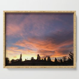 Californian sunset Serving Tray