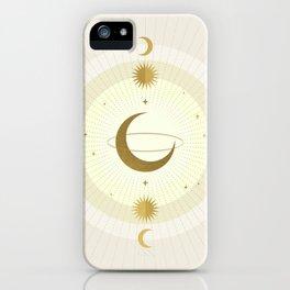 Moon Galaxy - Gold iPhone Case