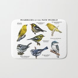 Warblers of the New World Bath Mat