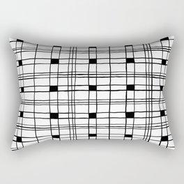 Chic Tartan line scott pattern B/W illustration Rectangular Pillow