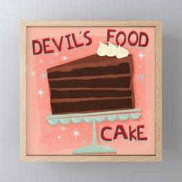 Devil's Food Cake An All American Classic Dessert Framed Mini Art Print
