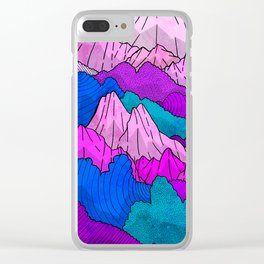 The night time hills Clear iPhone Case