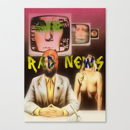 RAD NEWS Canvas Print