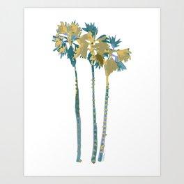 Palm Tree Breezes Art Print
