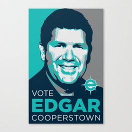 Vote Edgar for Cooperstown Canvas Print
