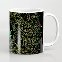 Magic plant. Marijuana leaf. mandala Coffee Mug