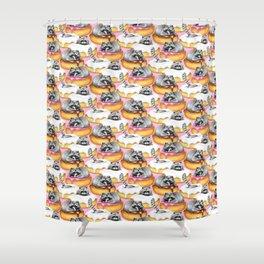 The Sweet Dreams of a Trash Panda  Shower Curtain