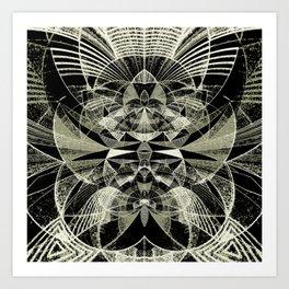 Sgraffito Contours Art Print