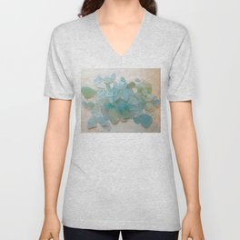 Ocean Hue Sea Glass Unisex V-Neck