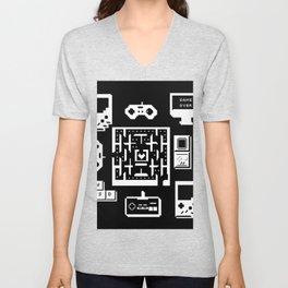 Geek Gamer Pattern Unisex V-Neck