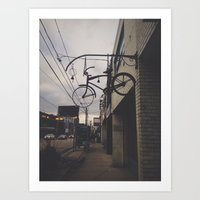 bicycles Art Prints featuring Bicycles by Wanderlust Fhotos