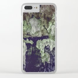 Grunge Camouflage Texture Print Clear iPhone Case
