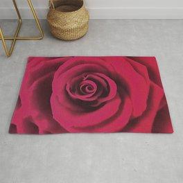 Big Red Rose Rug