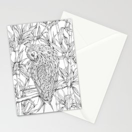 Nicobar pigeon in line Stationery Cards