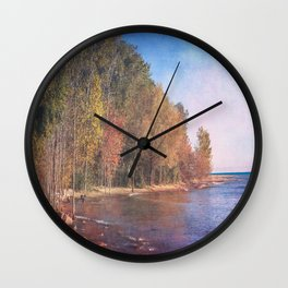 Somewhere There's Peace Wall Clock